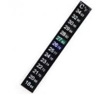 LCD термометр полоска +18...+34С
